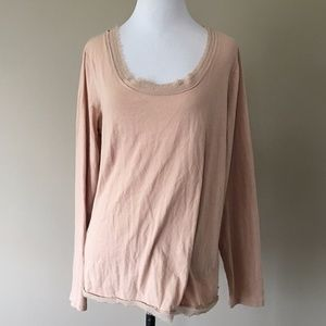 Large Pullover Dusty Pink Scoop Neck LOFT